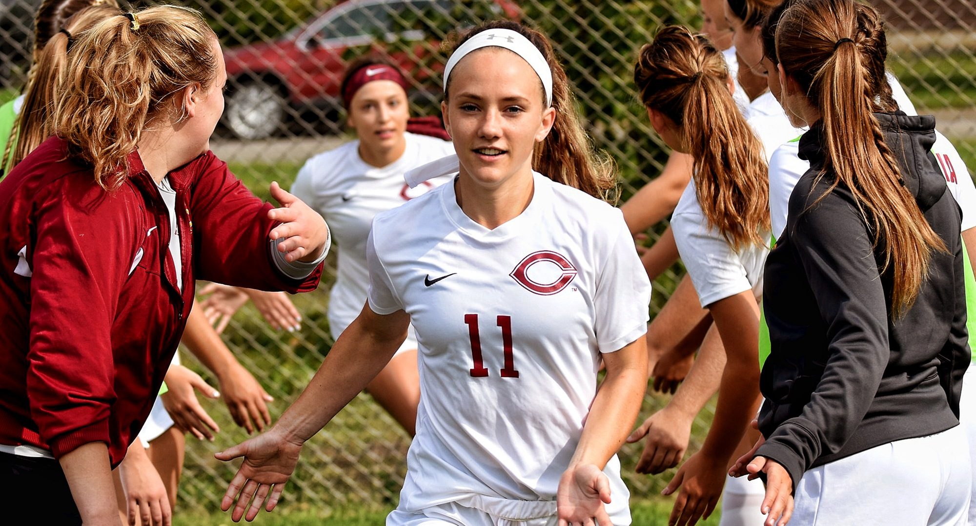 Senior Karsen Granning scored three goals to help the Cobbers to a 4-0 win over Northland.