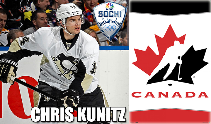 Bulldog Alum Chris Kunitz Invited To Canada's Team Orientation Camp For 2014 Winter Olympics