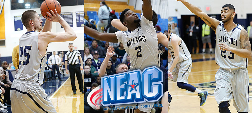 Three Bison earn All-NEAC men's basketball honors, two on first team