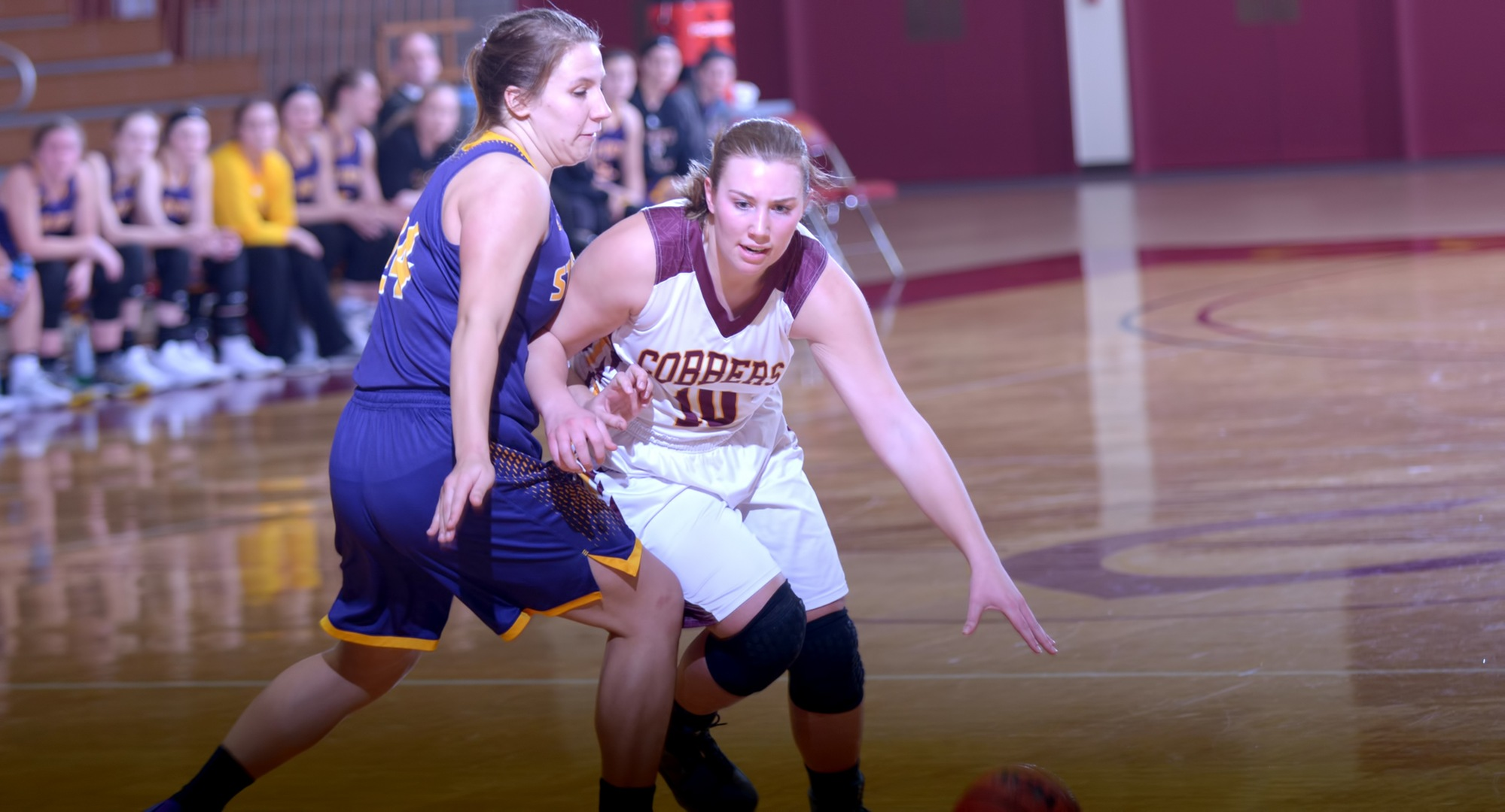 Lincoln Haiby had nine points and four rebounds in the Cobbers' game at St. Catherine.