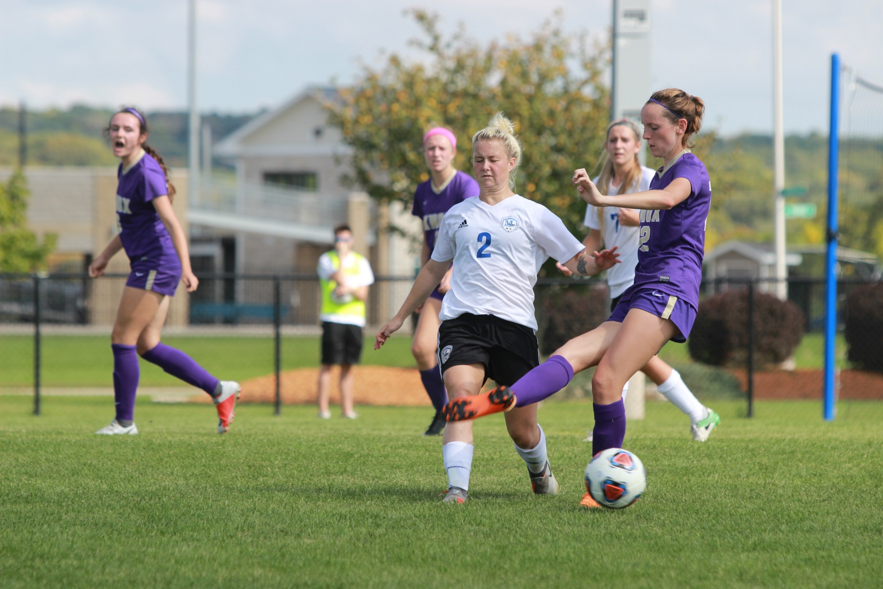 Reilly Louko defends the ball.