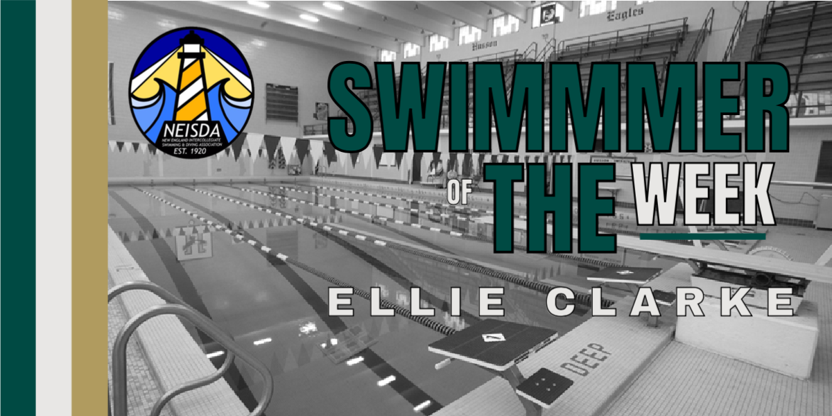 Clarke Breaks Program Records on her way to Earning NEISDA Women's Swimmer of the Week