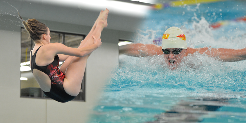 Swimming and diving wins three events in Iowa Lakes Dual