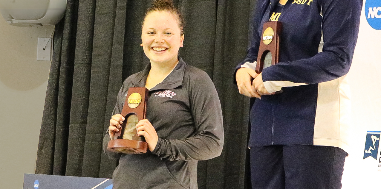 Trinity's Sarah Kate Mrkonich Earns All-American Finish in 1-Meter Diving