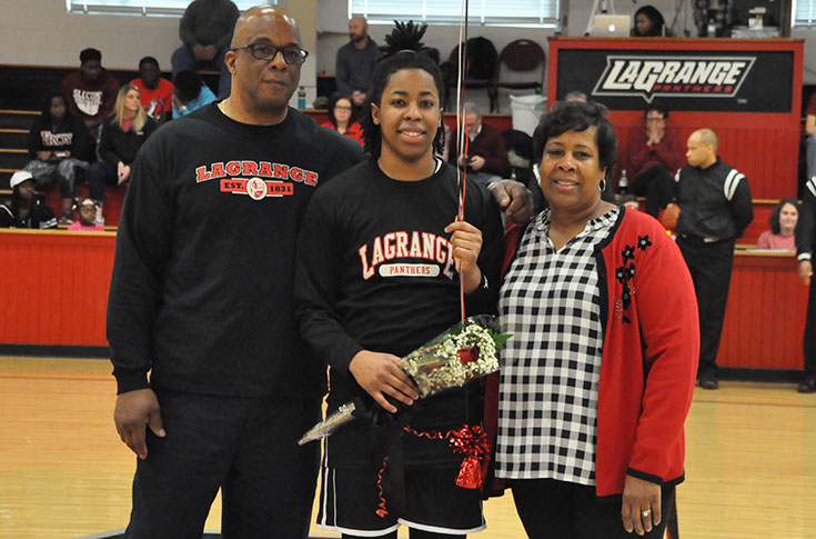 2016-17 Review/Women's Basketball: Kelsey Walthall celebrates Senior Day with career game