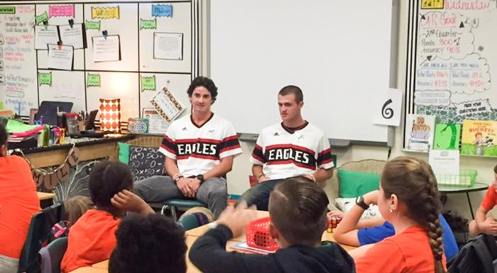 Eagles baseball takes part in Great American Teach-In