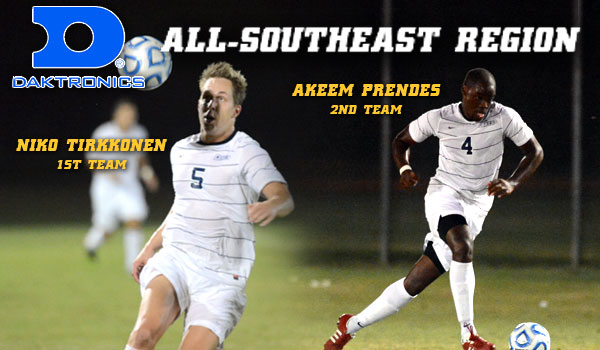 Coker's Tirkkonen, Prendes Named to the All-Region Team