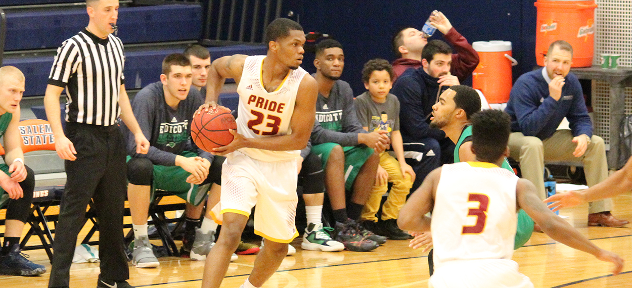 Men's Basketball Tops Wheelock, Keeps Postseason Hopes Alive