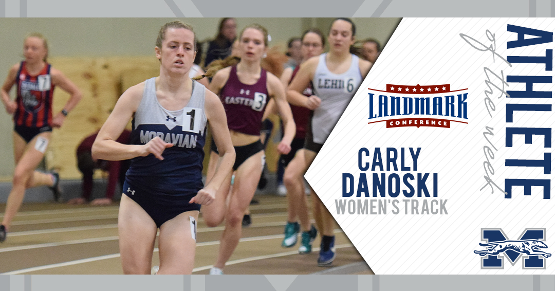 Carly Danoski honored as Landmark Conference Women's Track Athlete of the Week.