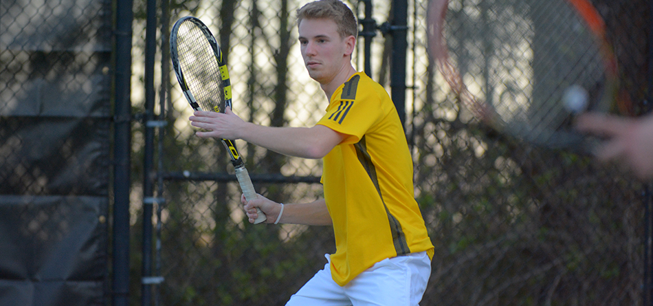 Senior Dominic Polifrone won No. 1 doubles and No. 1 singles in the 6-3 loss to Otterbein