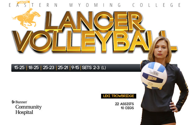 Eastern Wyoming College Lancer Volleyball Team vs. Western Nebraska Community College Volleyball Team