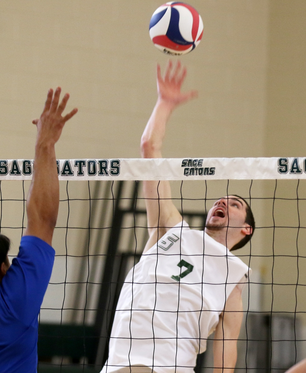 Sage Men's Volleyball Sweeps Tri-Match Play as Gators Win Third Straight