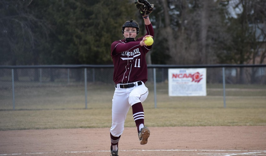 Softball Splits with No. 20 Calvin