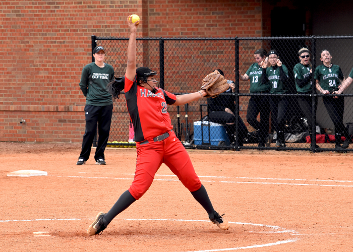 Madison Hunt earned the win in both games of Thursday's doubleheader at LaGrange.