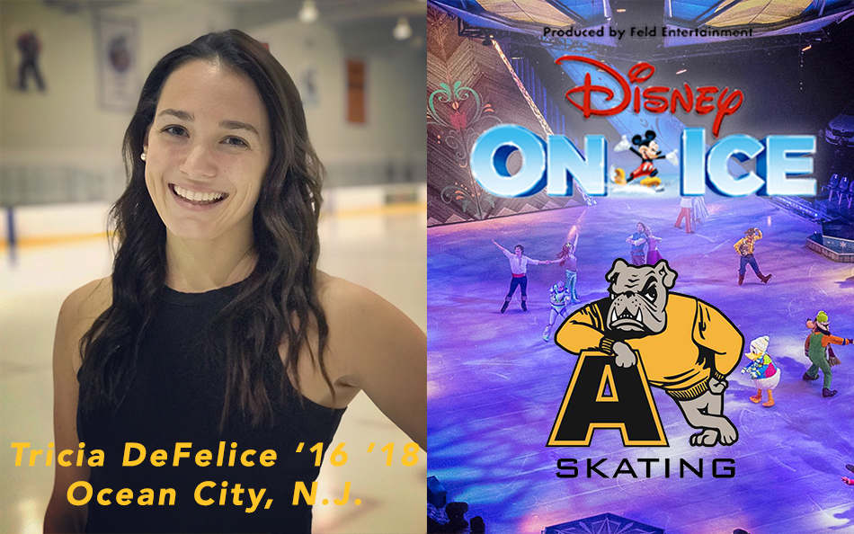 Tricia DeFelice '16 '18 Signs Contract to Skate with World-Famous Disney On Ice Show