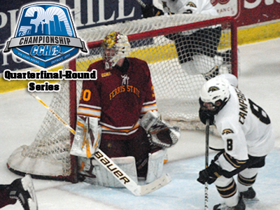 Senior Pat Nagle, a 2010-11 CCHA First-Team selection, made 31 saves in Friday's 3-1 triumph at Western Michigan in a CCHA Tournament Quarterfinal-Round Series opener.