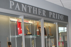 Panther Pride Trophy Wall