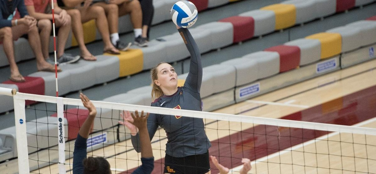 CMS Volleyball Cruises to Quick Three-Set Win over Redlands