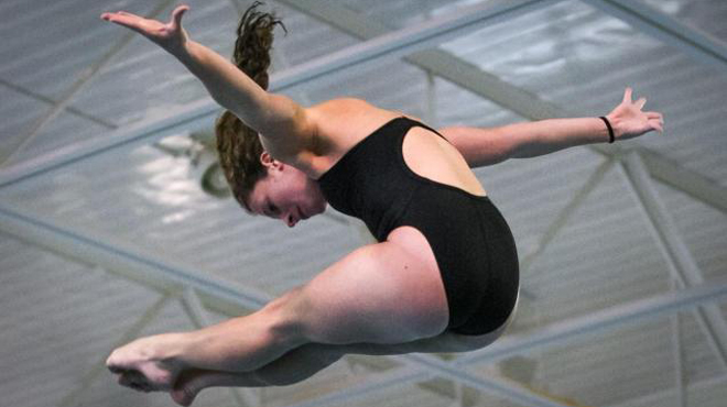 Trinity's Hahn & Heline Qualify for NCAA 3-Meter Diving Championship