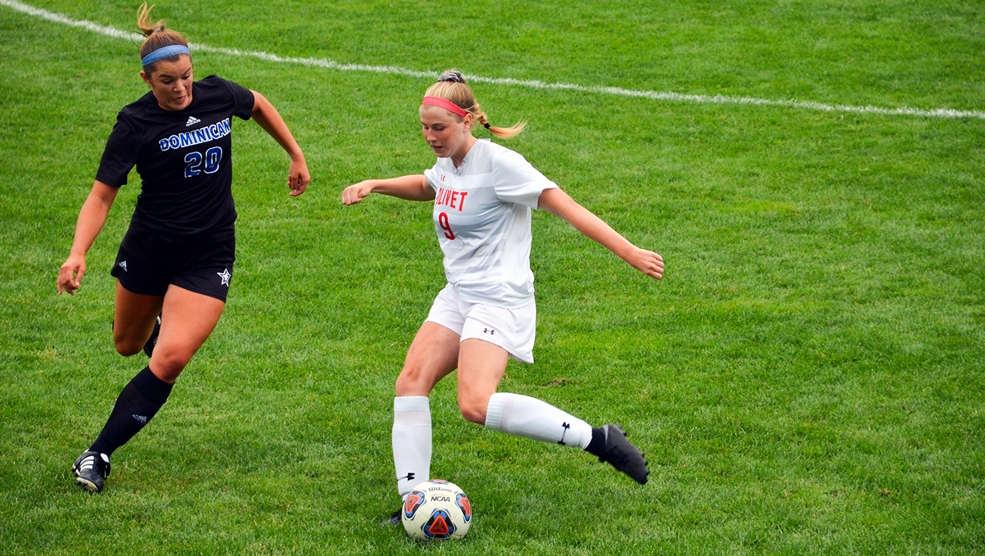 Women's soccer team loses to Dominican, 3-0