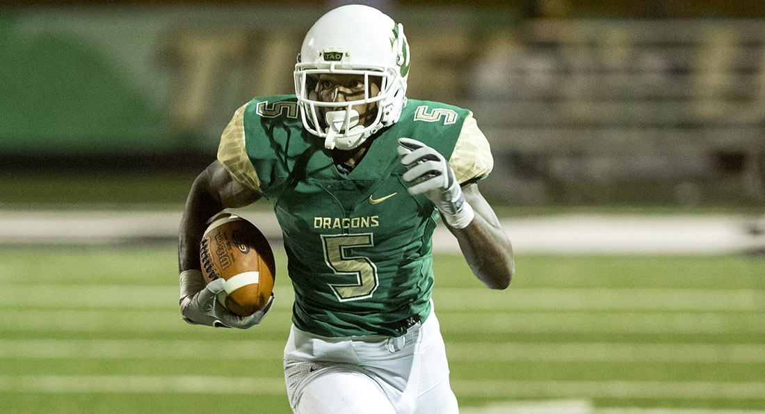 Charles Holland had 161 yards receiving as the Dragons won their second game of the season.