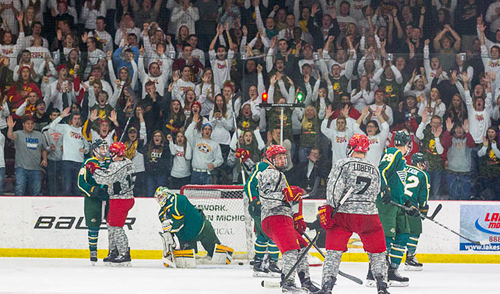 Ferris State Hockey Erupts For Double-Digit Goals In Decisive Series-Opening Win
