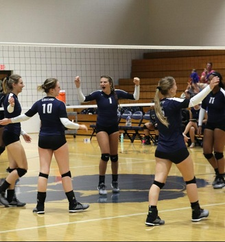 Cougar Volleyball Picks Up Three More Wins at PSU-Beaver Quad Match