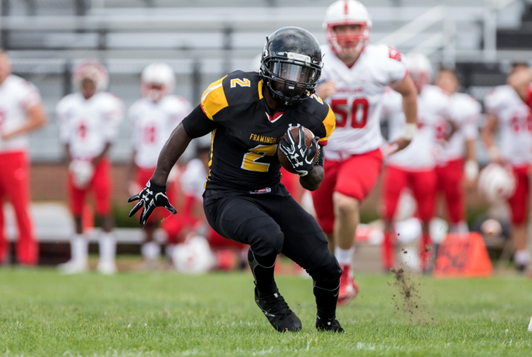 Wright Goes over 1,000 Yards as Football Defeats Worcester State 48-20