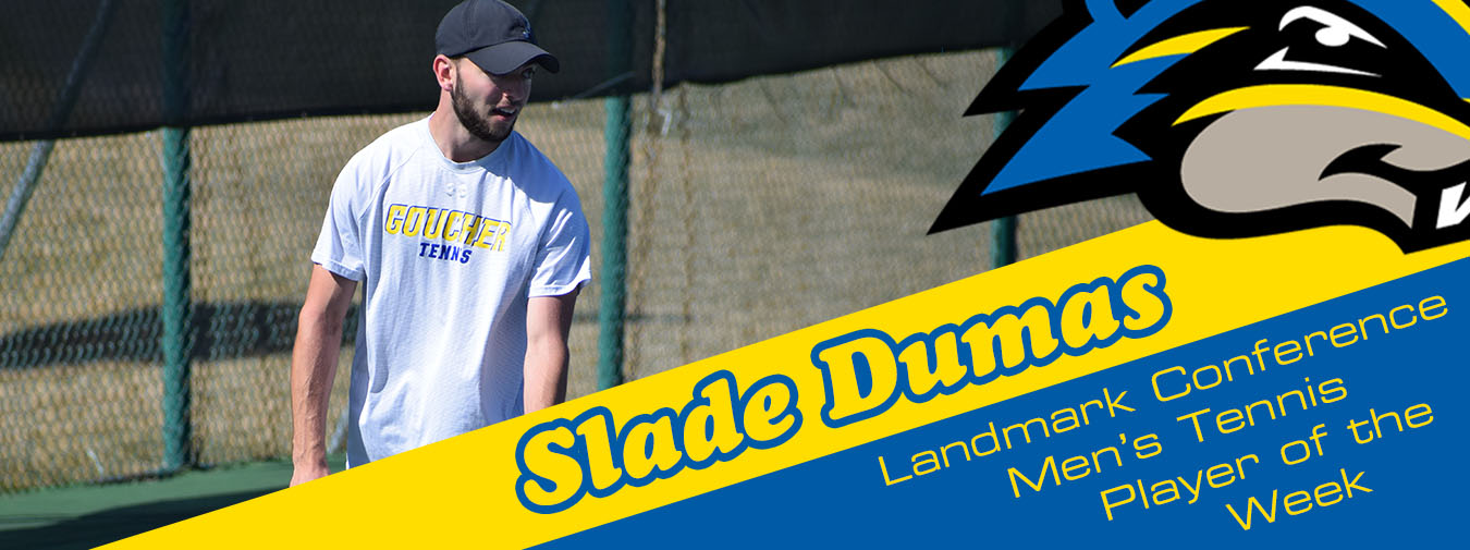 Slade Dumas Named Landmark Conference Men's Tennis Player Of The Week