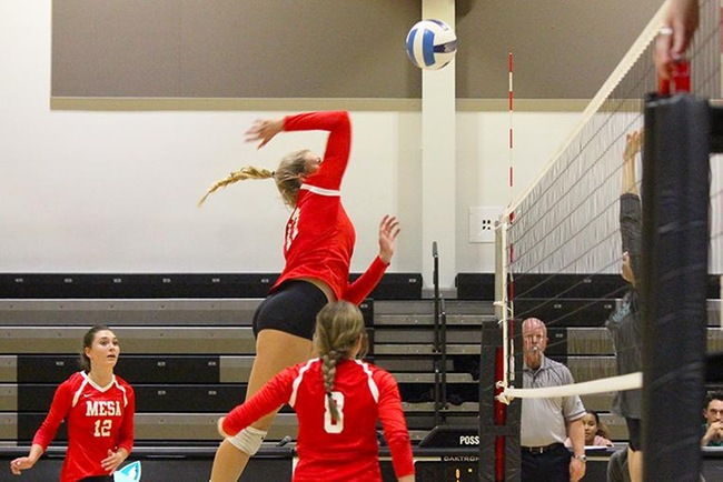 #14 Mesa Volleyball Earns Four Set Victory at Chandler-Gilbert