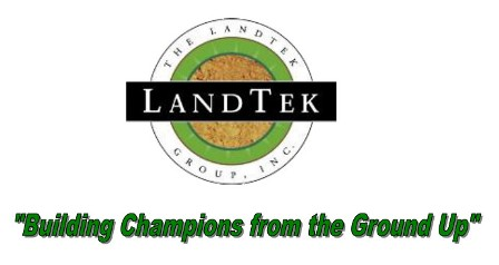 "LandTek Group Inc. logo - ""Building Champions from the Ground Up"""