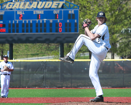 GU's Brandon Holsworth earns second honorable mention selection for NCBWA Division III Pitcher of the Week