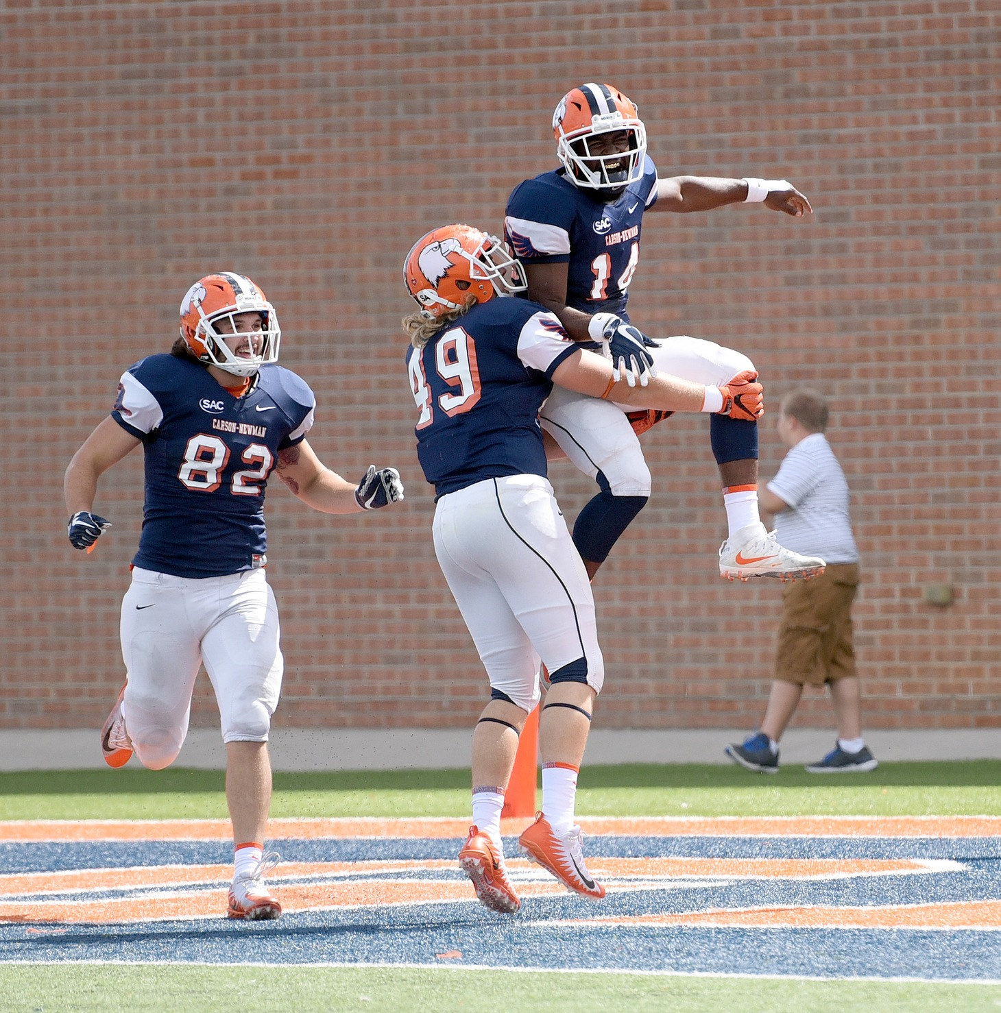 Eagles pound the ground in dominant 31-18 win over No. 23 Catawba
