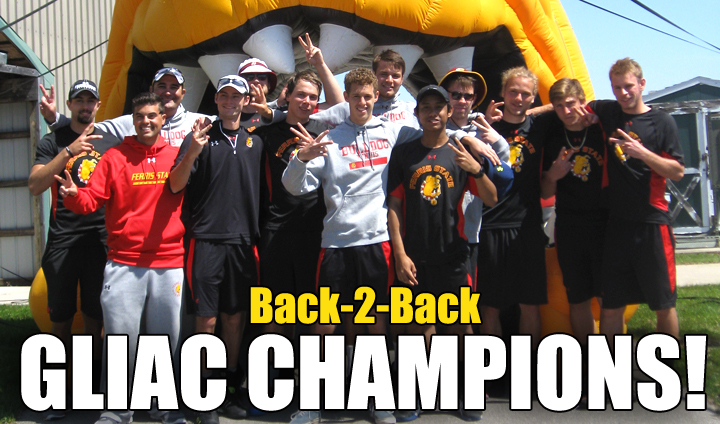 Ferris State Men's Tennis Repeats As GLIAC's Outright Regular Season Champion!