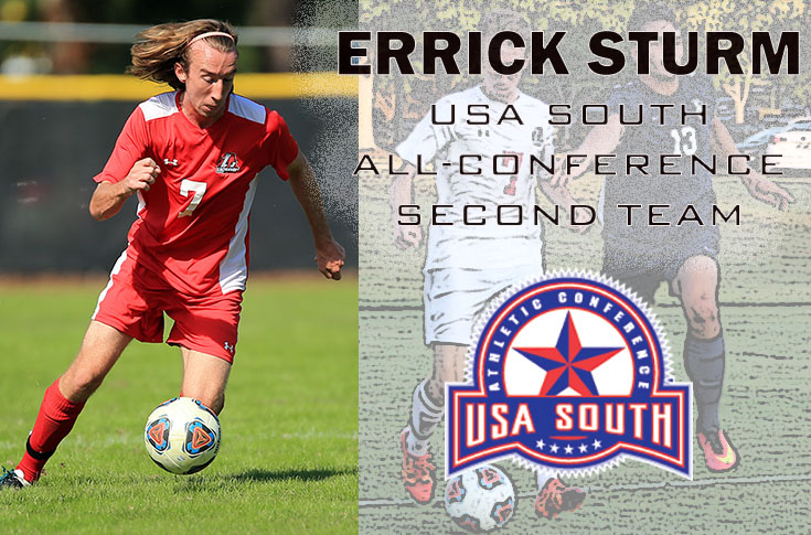 Men's Soccer: Errick Sturm selected to USA South All-Conference second team