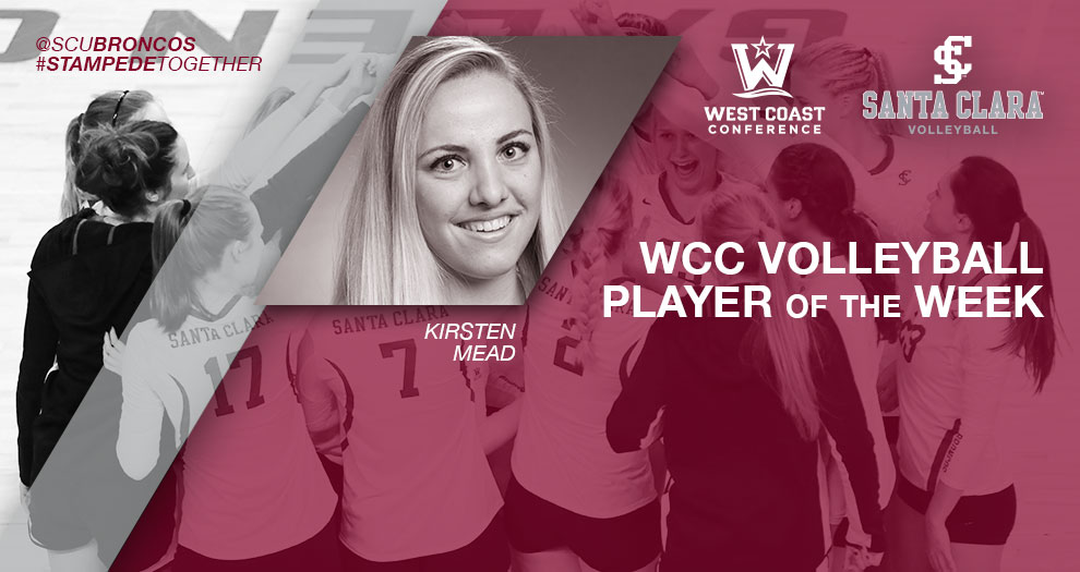 Mead Named WCC Player of the Week; Volleyball Receives Votes in AVCA Poll