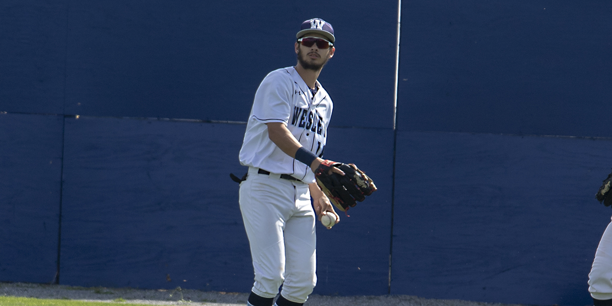 Baseball collects first Atlantic East win in doubleheader split with Neumann