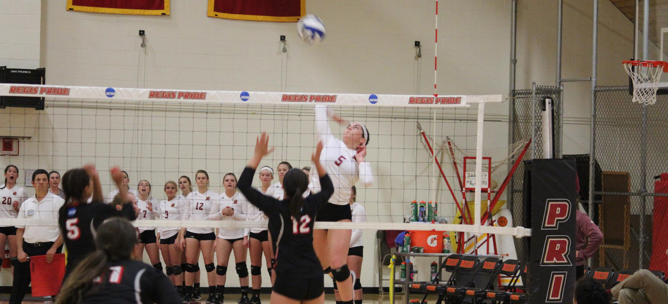 Regis Sweeps Mitchell in NECC Play
