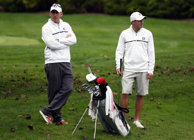 Coach Corey Maggard, Noah Ratner (Scott Olmstead photo)