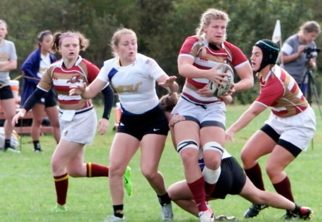 Sheila Decker action vs. West Chester women's rugby