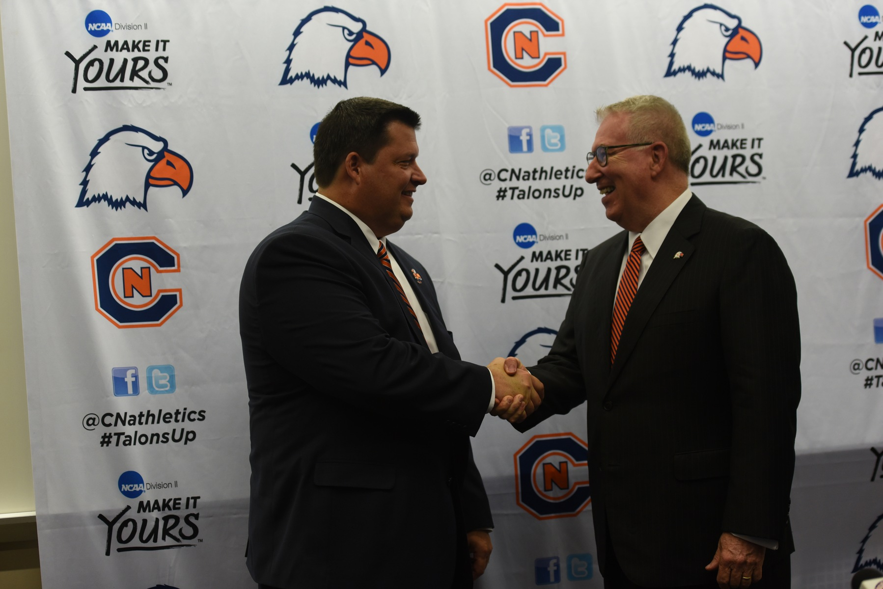 VP for Athletics Matt Pope welcomed to C-N community with press conference
