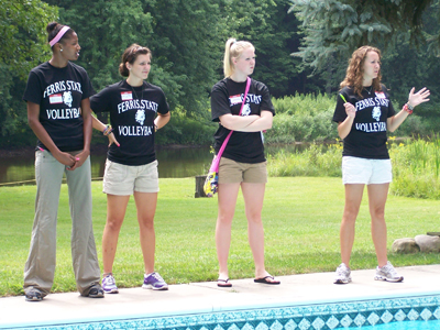 The four 2010 team captains speak about the upcoming season.  (Photo by Joe Gorby)