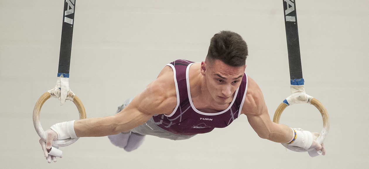 Graff and Dieker Earn All-America in All-Around As Men's Gymnastics Finishes Fourth at USAG Championships