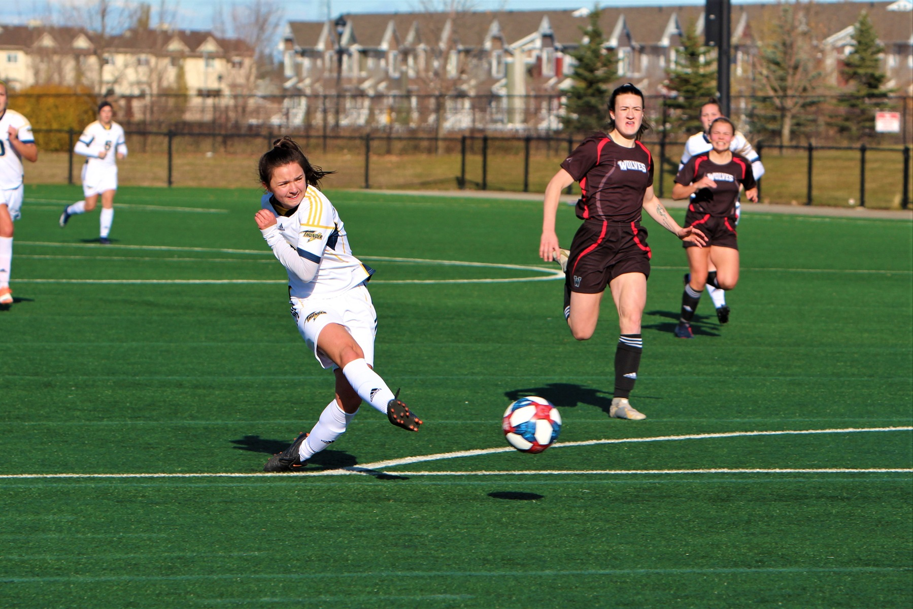 Thunder Women's Soccer Close Out Home Schedule With Big Win Over Wolves