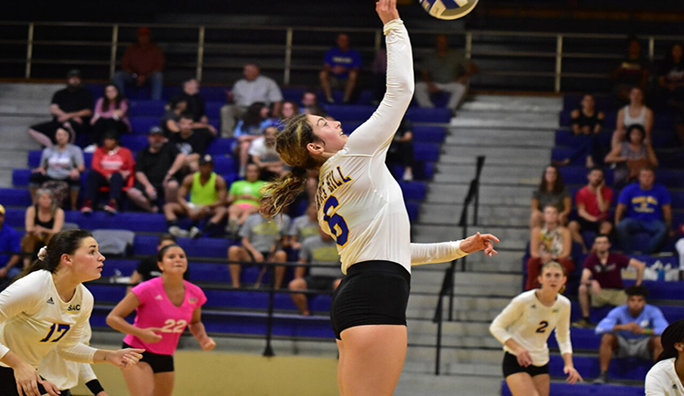 Lions emerge victorious over Tusculum in five-set thriller