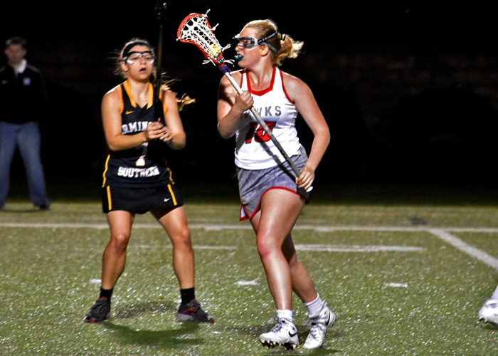 Freshman Sarah Brooks scored three goals in Sunday's 15-6 win over Millsaps. (Photo by Wesley Lyle)