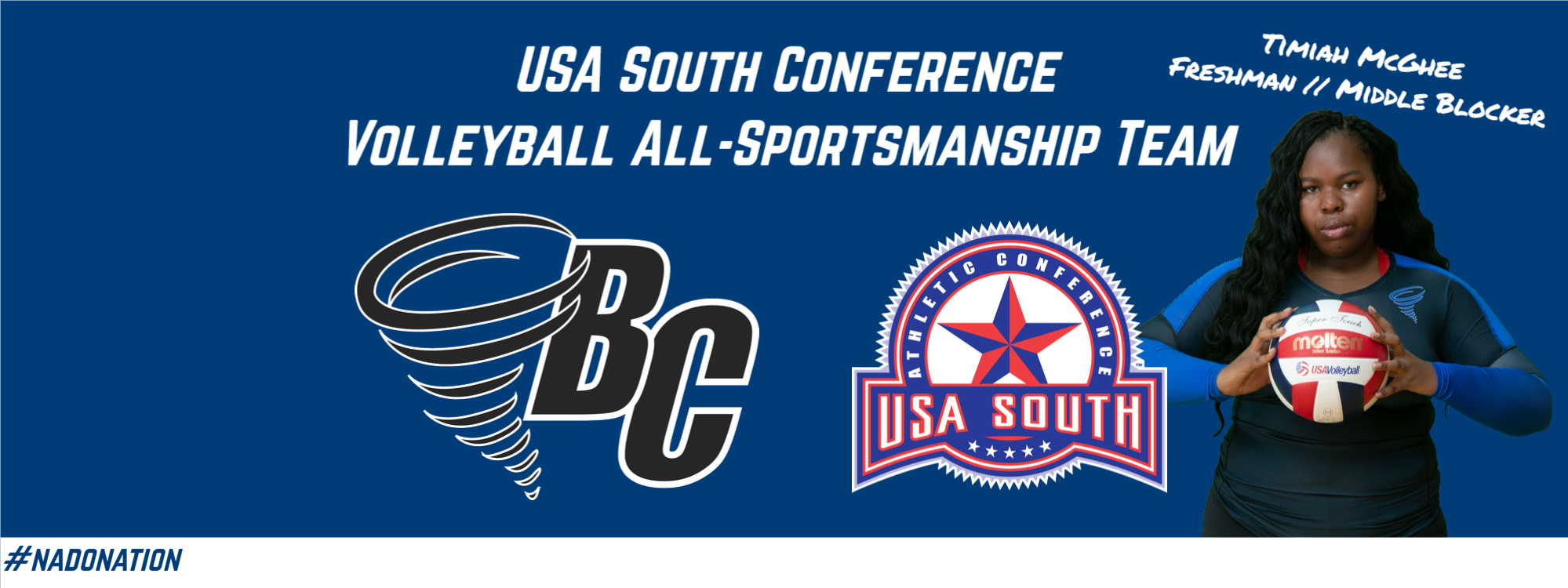 Timiah McGhee Picked to USA South Volleyball All-Sportsmanship Team