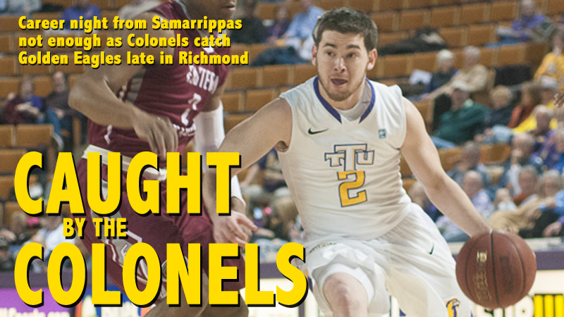 Golden Eagles fall in Richmond despite career night from Samarrippas