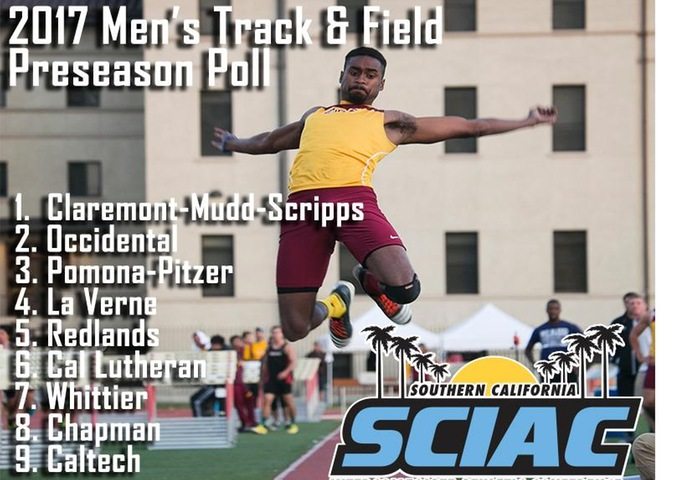 Claremont-Mudd-Scripps Men's Track and Field Emerges as SCIAC Coaches' Preseason Favorite