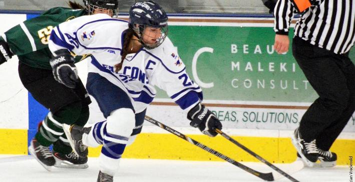 Women's Hockey downed by Adrian in opening game of weekend series
